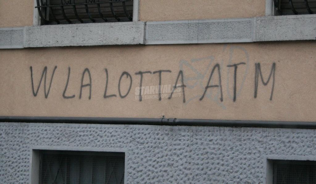 Scritte sui Muri Sostegno ai tram