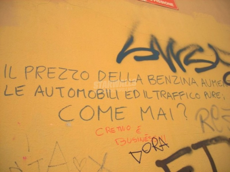 Scritte sui Muri Svalutation!