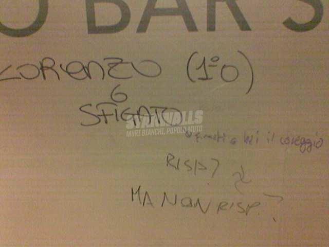 Scritte sui Muri rispondi vigliacco!