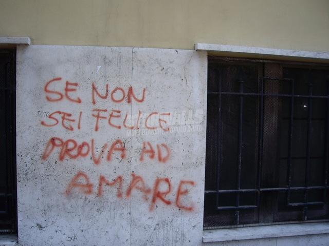 Scritte sui Muri filosofia sentimentale