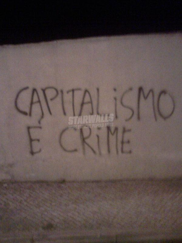 Scritte sui Muri Contro il capitalismo