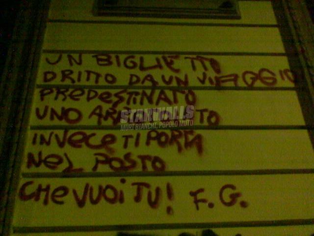 Scritte sui Muri occhio ai controllori...