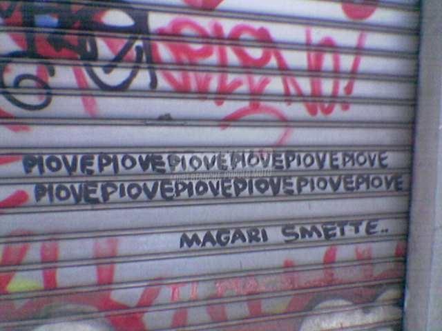Scritte sui Muri non può piovere per sempre...