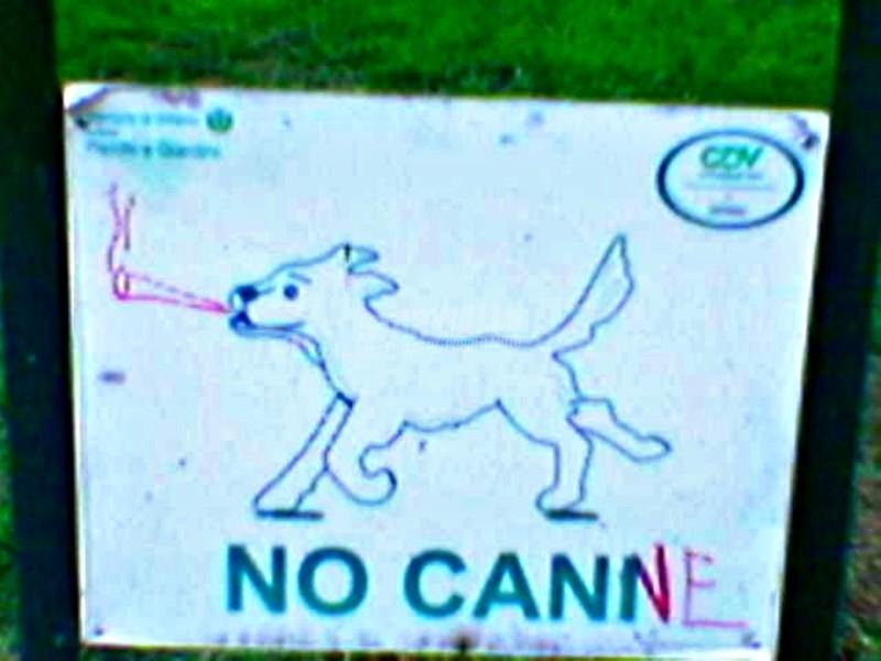 Scritte sui Muri Proibizionismo zoologico