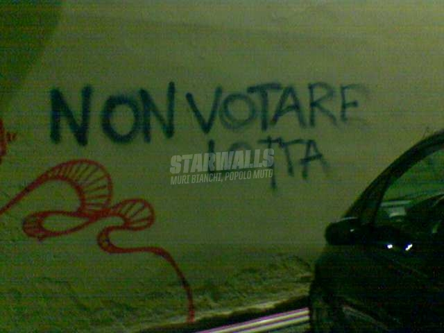 Scritte sui Muri Astensionismo agitato