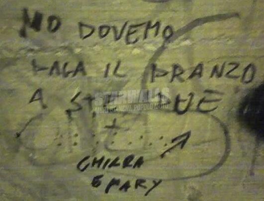 Scritte sui Muri Ve tocca ..