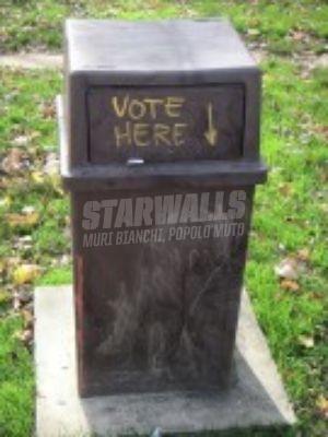 Scritte sui Muri Indicazione di voto