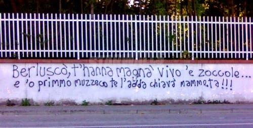 Scritte sui Muri Buon lavoro Presidente