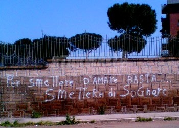 Scritte sui Muri no dreams no love