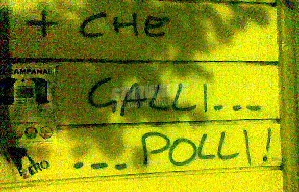 Scritte sui Muri italia - francia 2-0