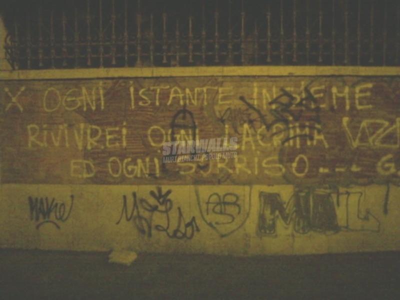 Scritte sui Muri lacrime e sorrisi