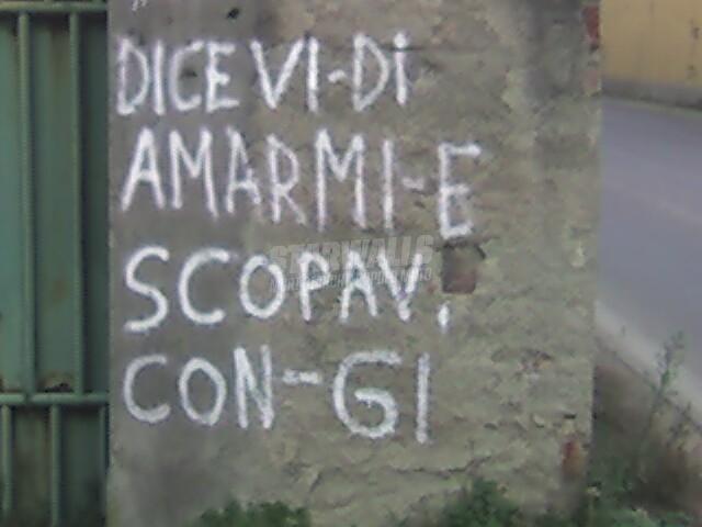 Scritte sui Muri Parole parole parole ..