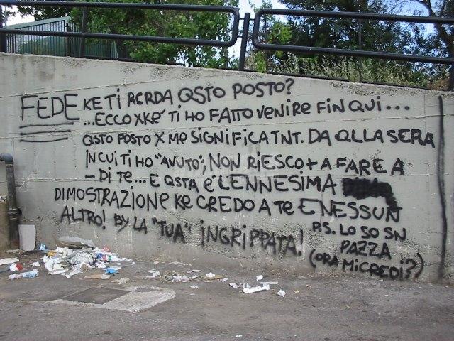 Scritte sui Muri credo solo a te ..