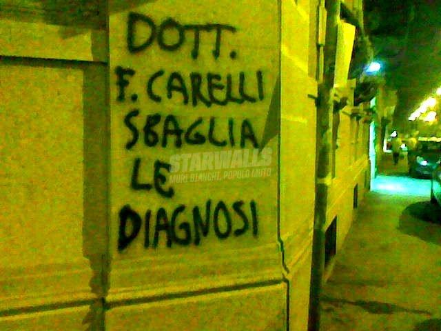 Scritte sui Muri ocio al dottor f.  ..