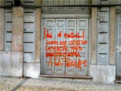 Scritte sui Muri consumismo lusitano