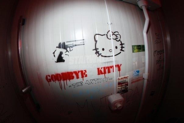 Scritte sui Muri say hello to Kitty