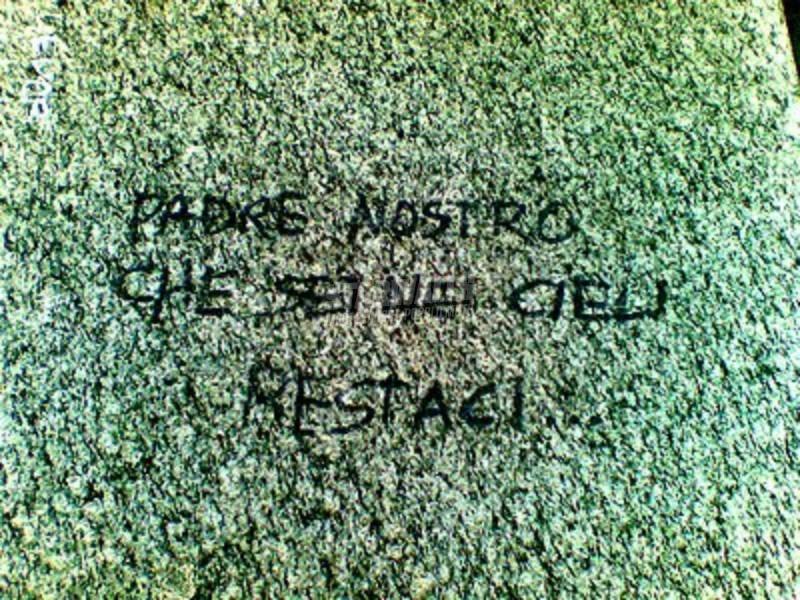 Scritte sui Muri E noi resteremo sulla terra
