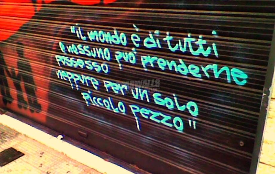 Scritte sui Muri Per un mondo migliore