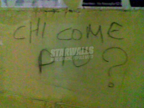 Scritte sui Muri I salentini vogliono sapere ..