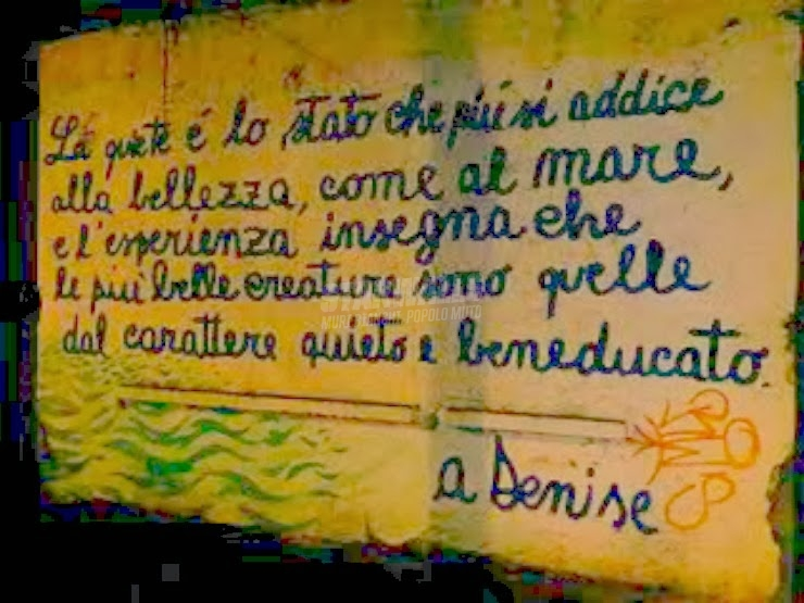 Scritte sui Muri Manifesto della quiete