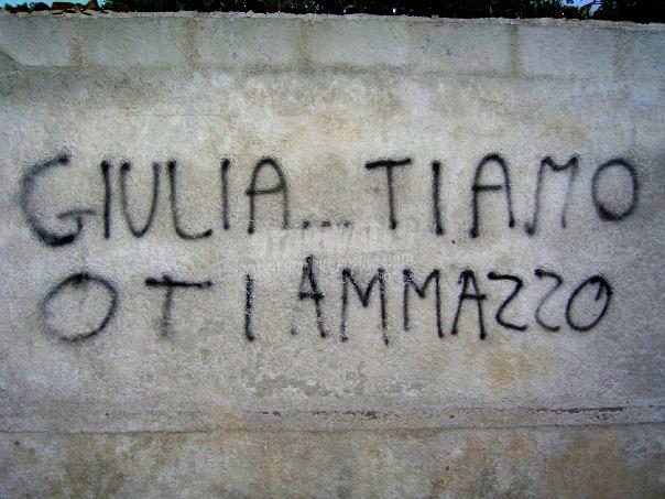 Scritte sui Muri Giulia .. fatti amare