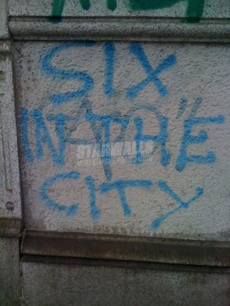 Scritte sui Muri Six not sex