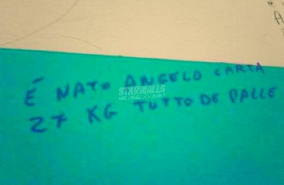 Scritte sui Muri È arrivata la cicogna