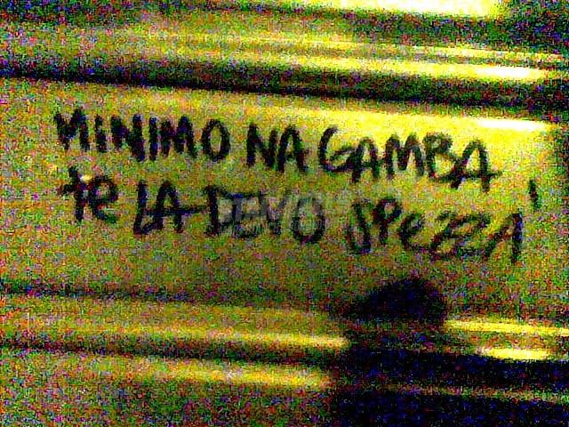 Scritte sui Muri Minacce