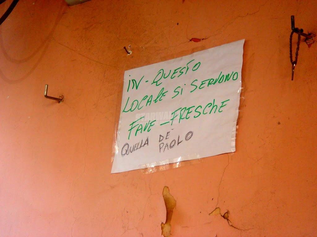 Scritte sui Muri Qui solo verdura di stagione
