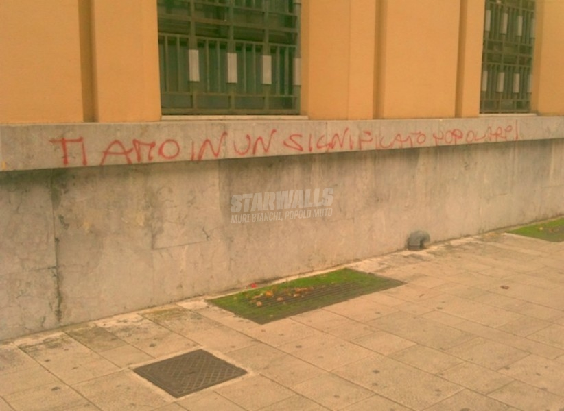 Scritte sui Muri Amore senza distinzioni di classe