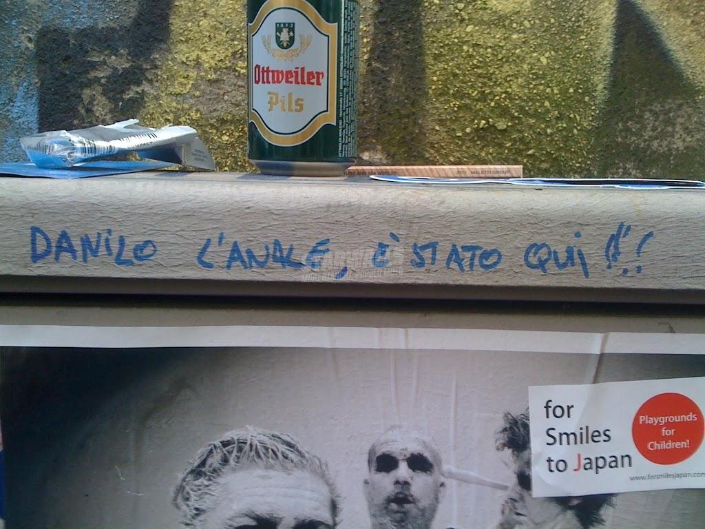 Scritte sui Muri E' passato Danilo