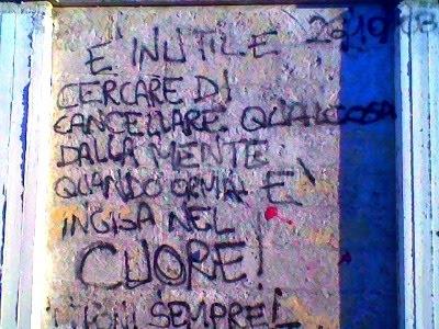 Scritte sui Muri Piccoli Moccia crescono