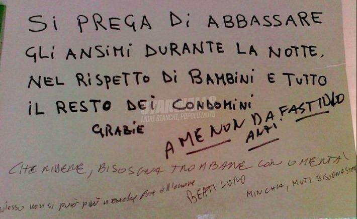 Scritte sui Muri Si sente l'intimità cap. II