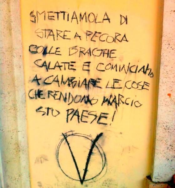 Scritte sui Muri Piccoli V per Vendetta crescono