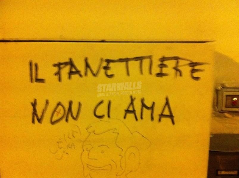 Scritte sui Muri Panzerotti ripieni di odio