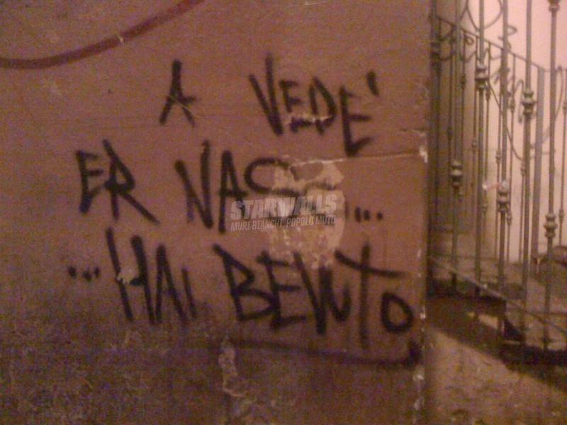Scritte sui Muri Il naso non mente