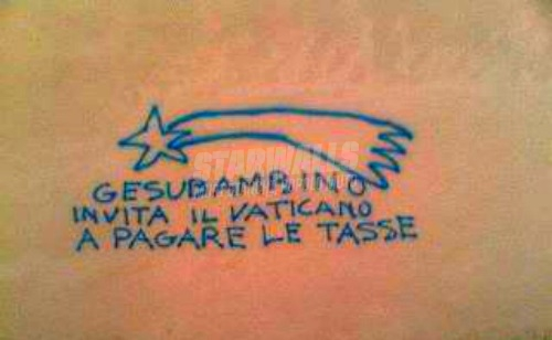 Scritte sui Muri Vaticano Spa