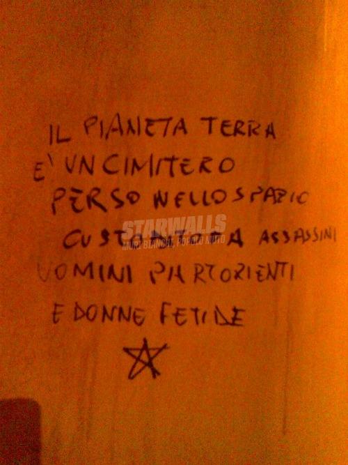 Scritte sui Muri Pessimismo galattico