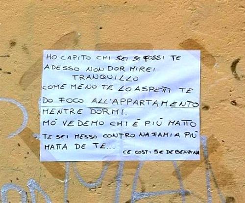 Scritte sui Muri Minacce low cost
