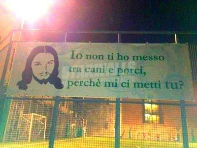 Scritte sui Muri Calcio e bestemmie