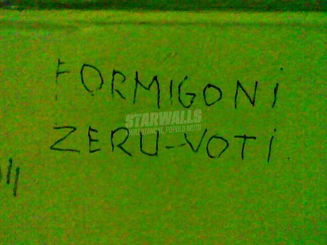 Scritte sui Muri Indagato