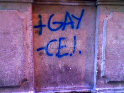 Scritte sui Muri Meglio gay che Opus Dei