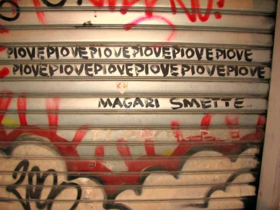 Scritte sui Muri La speranza è l'ultima a morire