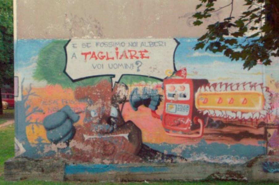 Scritte sui Muri Se la natura si ribella