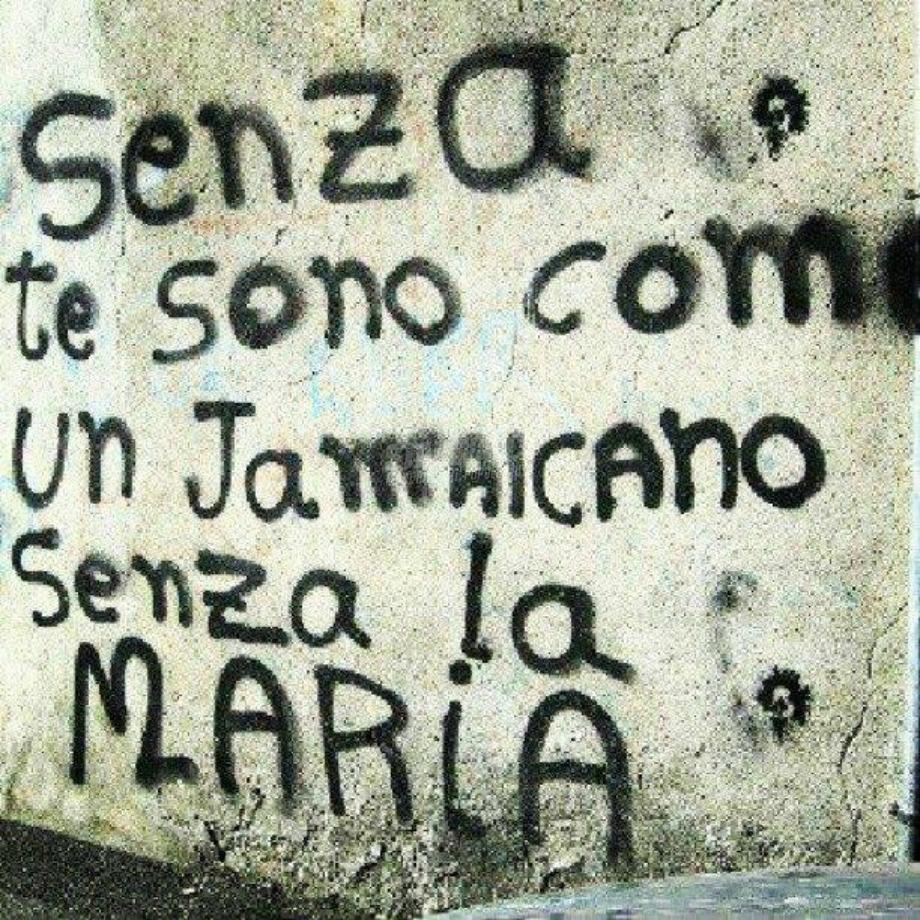 Scritte sui Muri Amore ai tempi di Bob Marley