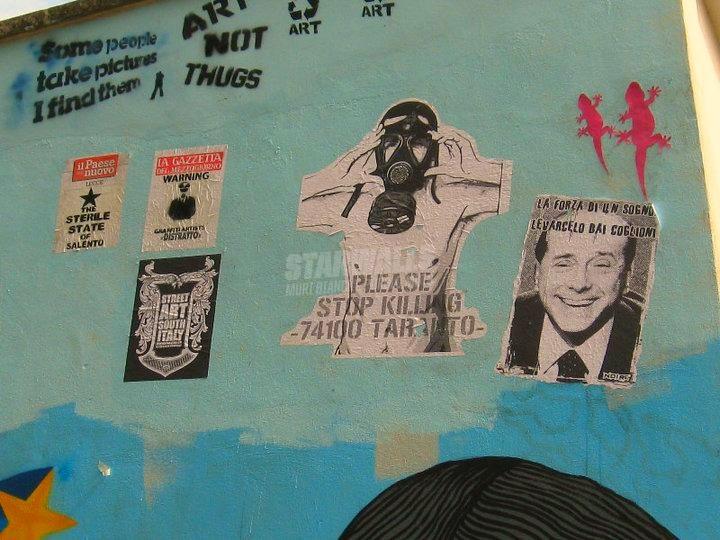 Scritte sui Muri Stop Killing Taranto