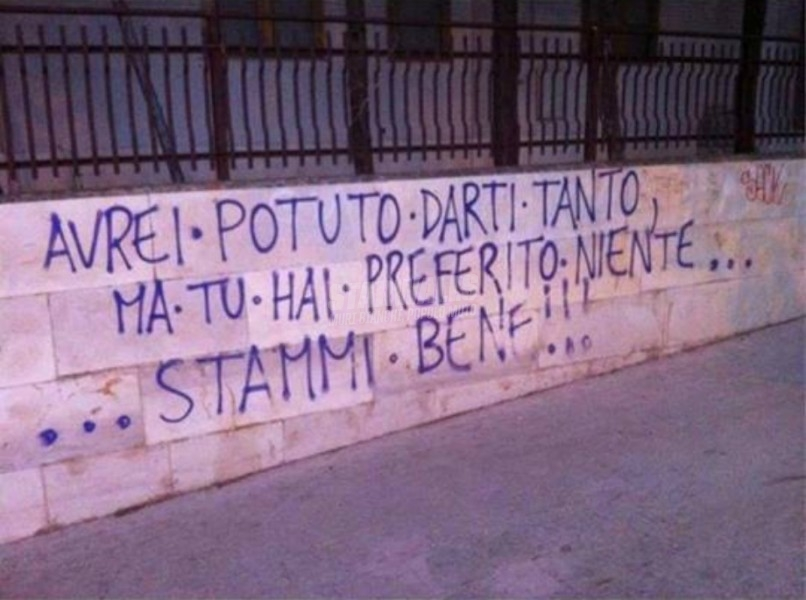 Scritte sui Muri Cordiali saluti