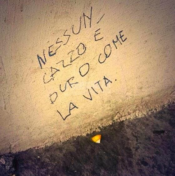 Scritte sui Muri La dura verità