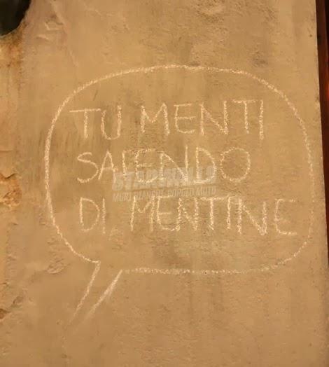 Scritte sui Muri In mala fede