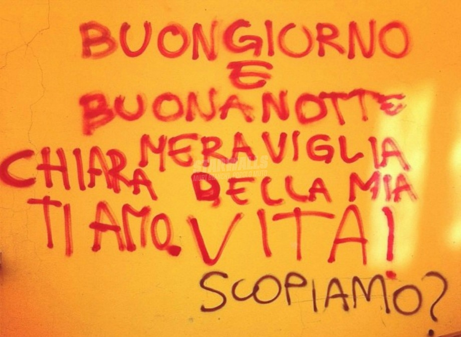 Scritte sui Muri Sommessamente Chiara (di nome e di fatto)